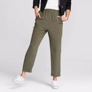 A New Day Olive Green Paperbag Straight Joggers S